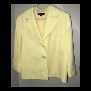 Alex Marie yellow suit jacket Excellent Condition